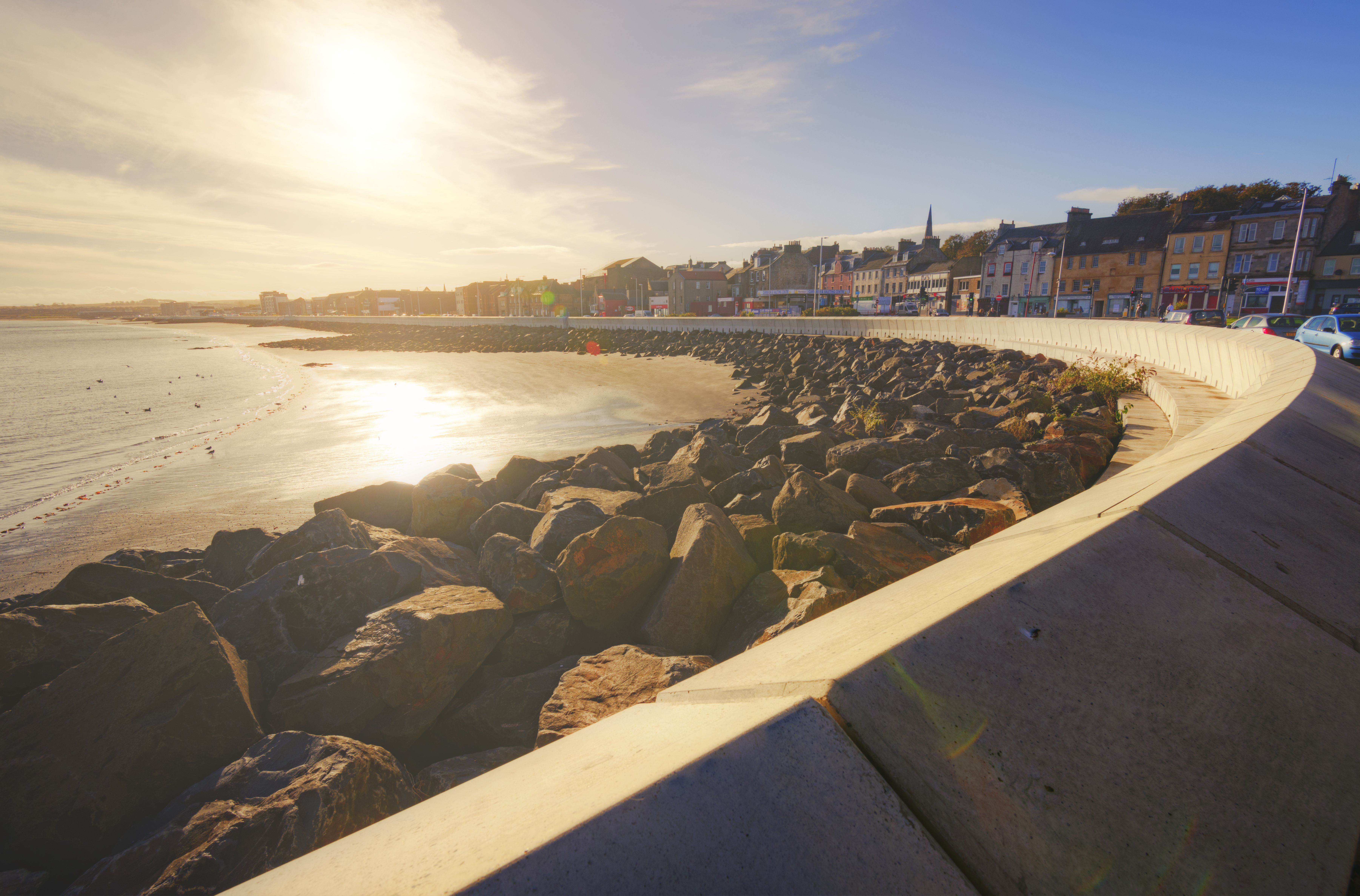 Revamped Kirkcaldy seafront