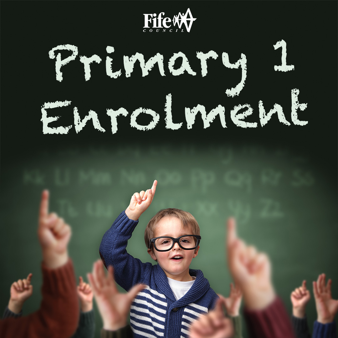 Primary one enrolment: Children with their hands up