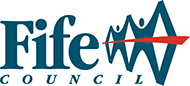 Fife Council logo consisting of people holding hands in the shape of the Forth rail bridge