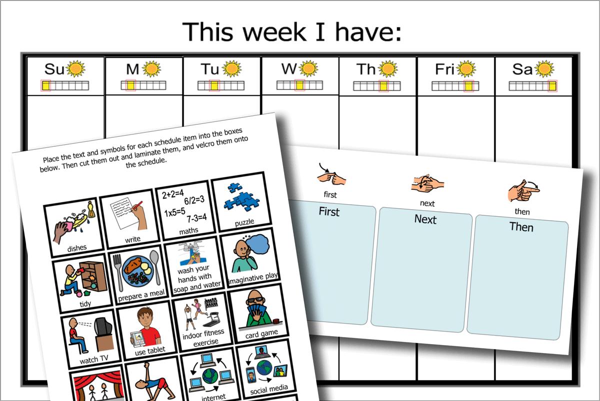 Weekly Schedule, Symbols, Now & Next