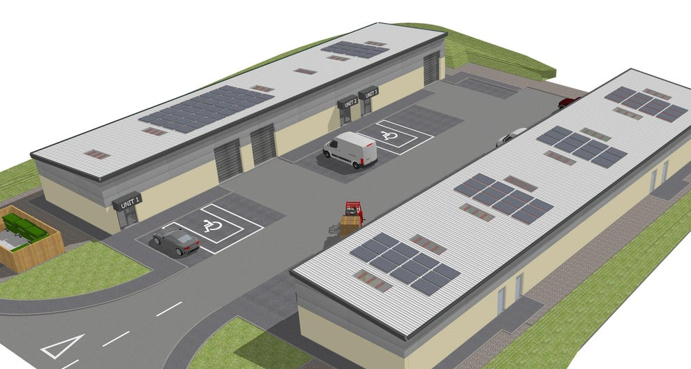Artists' impression of new business units