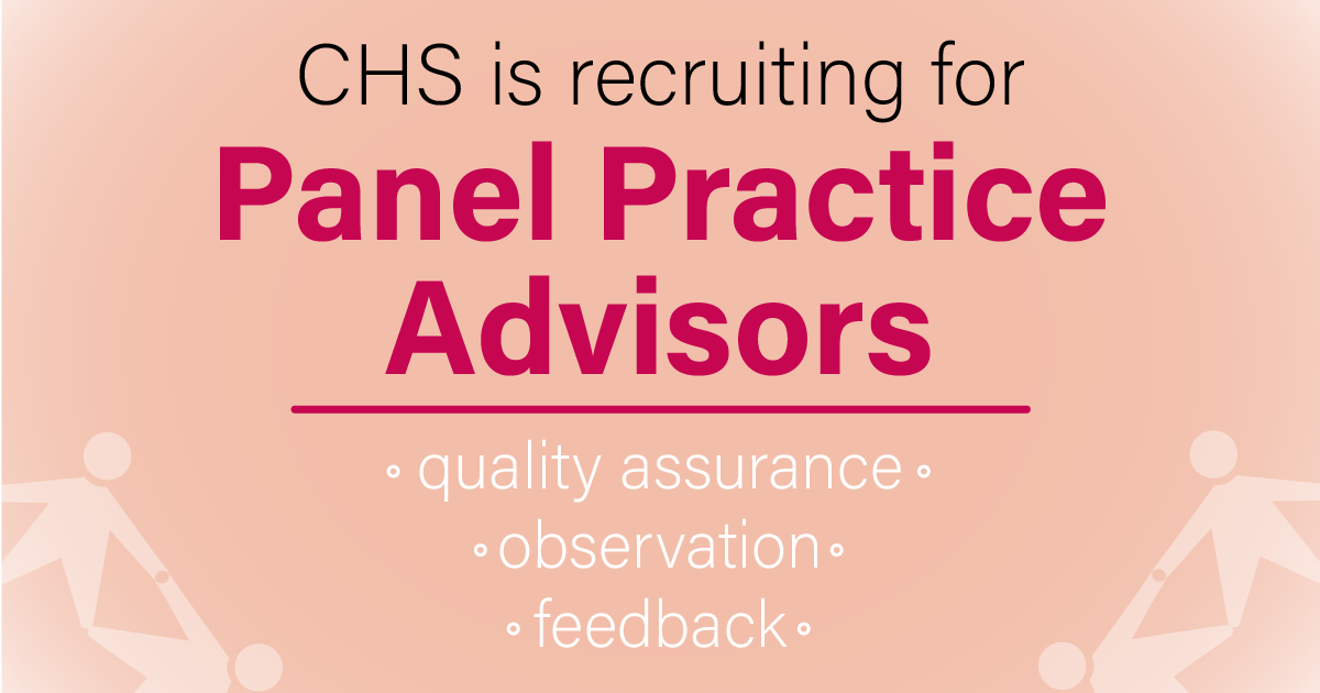 CHS is recruiting for Panel Practice Advisors