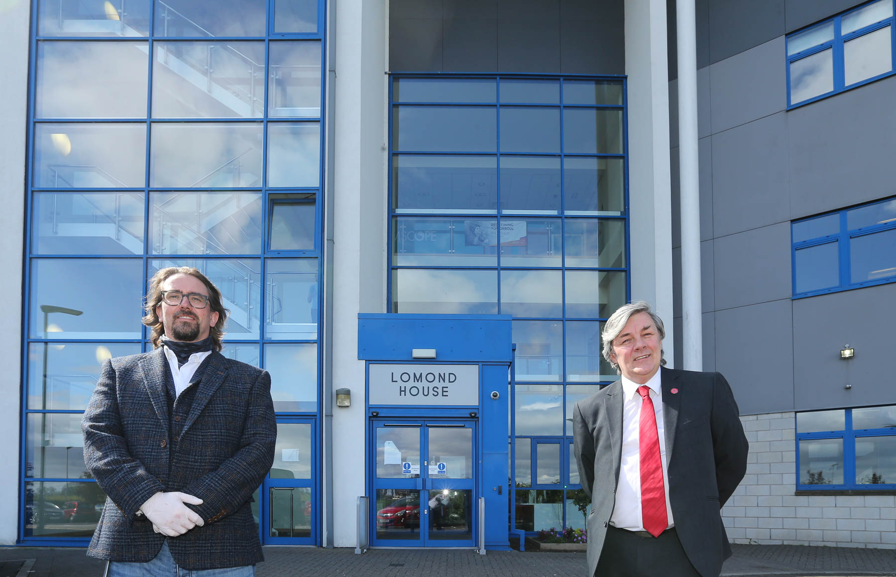 Cllr Altany Craik with Adam Taylor from Vericall.