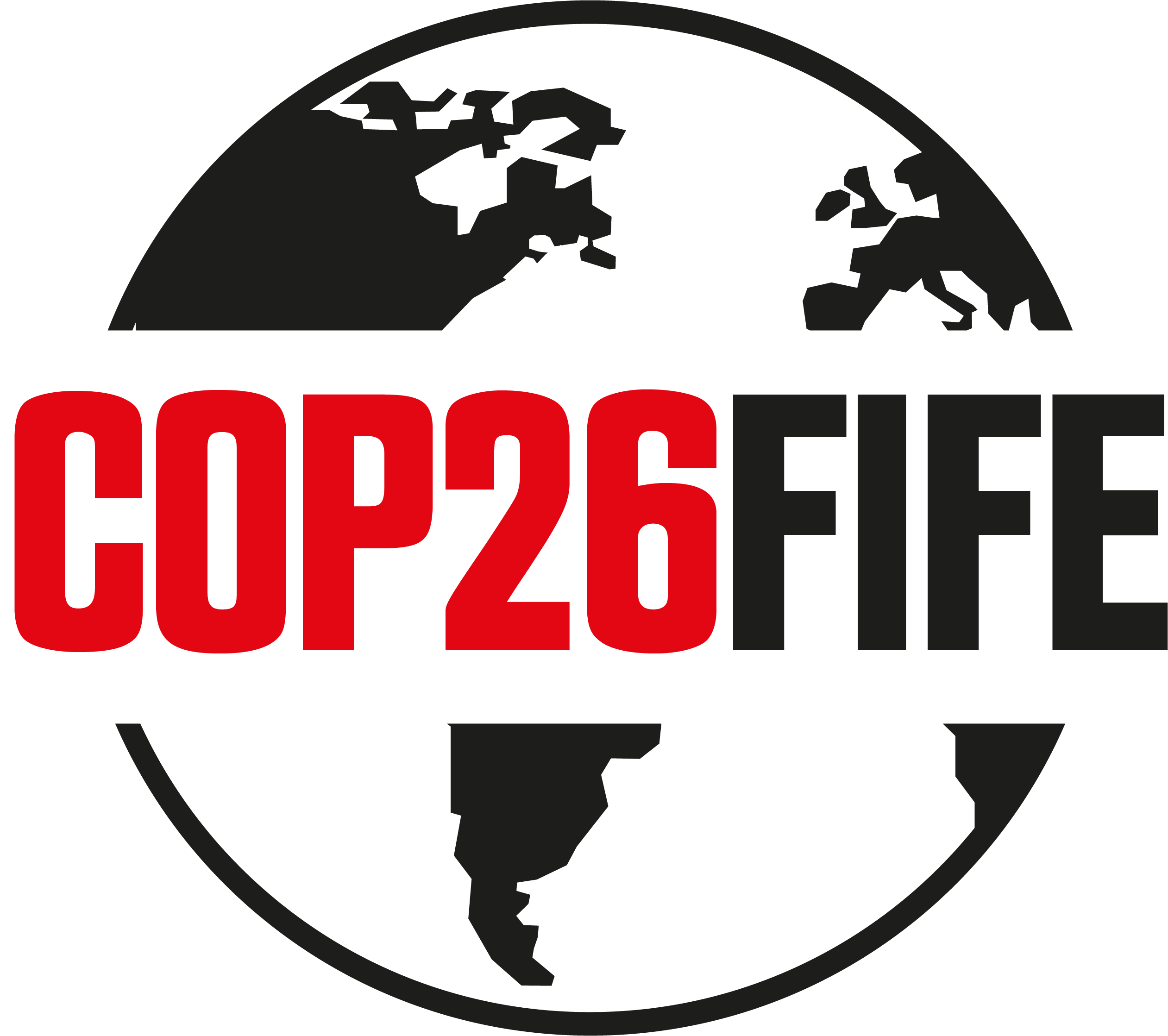 COP26 Fife black and red logo